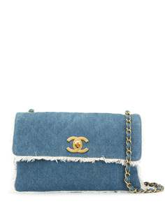 Chanel Pre-Owned джинсовая сумка на плечо с бахромой