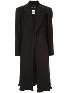 Chanel Pre-Owned кашемировое пальто миди без застежки