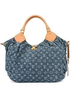 Louis Vuitton джинсовая сумка-тоут с логотипом