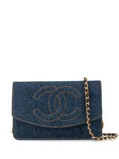 Chanel Pre-Owned джинсовая сумка на плечо с цепочкой