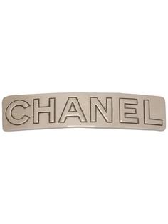 Chanel Pre-Owned заколка для волос с тиснением