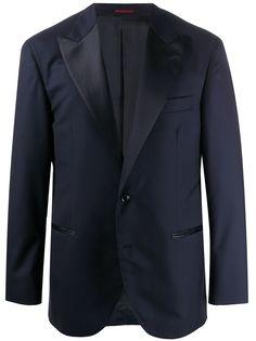 Brunello Cucinelli пиджак-смокинг с контрастными лацканами