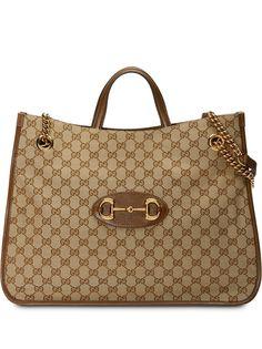 Gucci большая сумка-тоут 1955 с пряжкой Horsebit