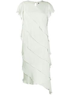 Max Mara платье миди со оборками