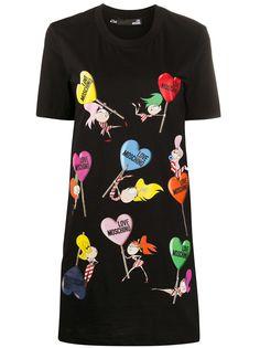 Love Moschino платье-футболка с логотипом