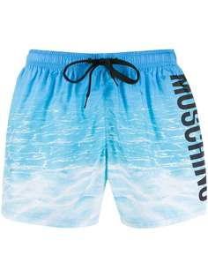 Moschino плавки-шорты с логотипом