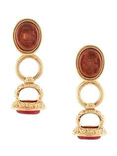 Chanel Pre-Owned серьги-кольца 1993-го года