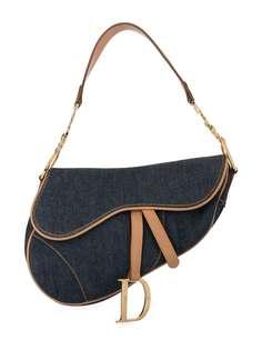 Christian Dior сумка на плечо Saddle из денима