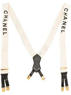 Chanel Pre-Owned подтяжки с логотипом