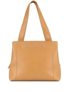 Chanel Pre-Owned стеганая сумка-тоут 1998-го года с логотипом