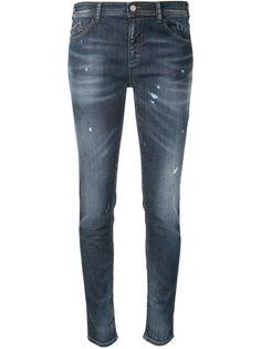 Emporio Armani джинсы скинни с эффектом потертости