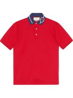 Gucci рубашка поло с логотипом Interlocking G