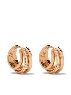 De Grisogono золотые серьги-кольца с бриллиантами
