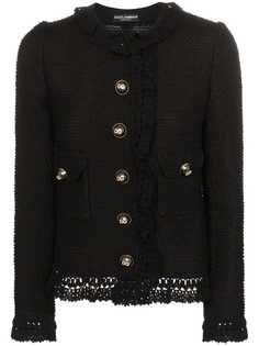 Dolce & Gabbana твидовый жакет