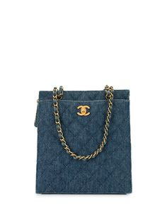 Chanel Pre-Owned стеганая джинсовая сумка на плечо 1998-го года