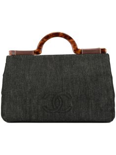 Chanel Pre-Owned джинсовая сумка с логотипом CC