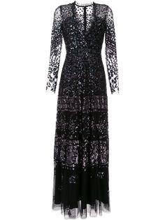 Needle & Thread декорированное платье с длинными рукавами