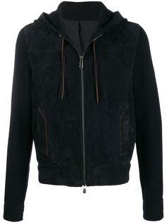 Ermenegildo Zegna XXX куртка с капюшоном и вязаными рукавами