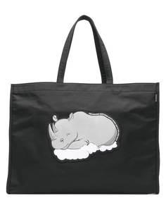 Balenciaga сумка-шоппер с изображением носорога