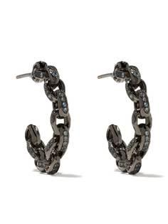 Patcharavipa золотые серьги-кольца с сапфиром