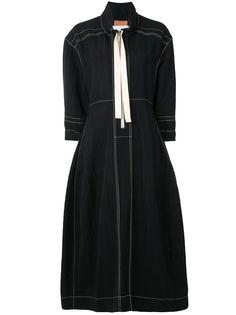 Jil Sander платье миди с воротником на молнии