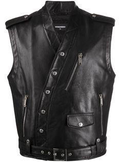 Dsquared2 байкерская куртка без рукавов