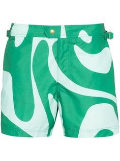 Tom Ford плавки-шорты с принтом