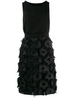 Max Mara платье с отделкой из перьев