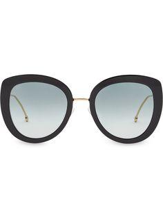 Fendi солнцезащитные очки F is Fendi в круглой оправе