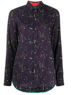 Paul Smith рубашка с длинными рукавами с цветочным принтом