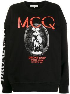 McQ Alexander McQueen толстовка с длинными рукавами и графичным принтом