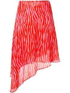 CK Calvin Klein юбка Georgette в полоску