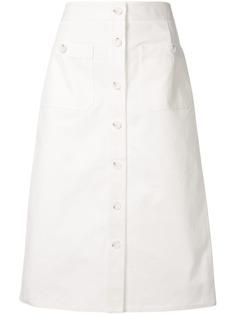 CK Calvin Klein юбка-карандаш с пуговицами