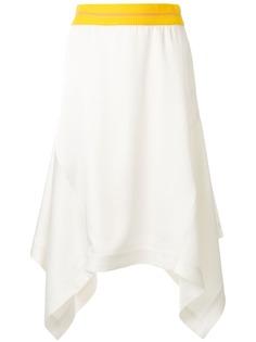 CK Calvin Klein юбка миди асимметричного кроя