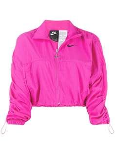 Nike куртка на молнии с логотипом