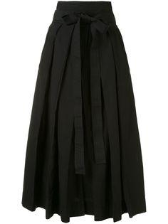 Lemaire юбка миди с завышенной талией и складками