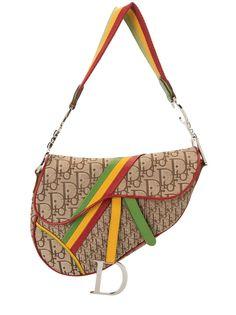 Christian Dior сумка на плечо Rasta Saddle с узором Trotter