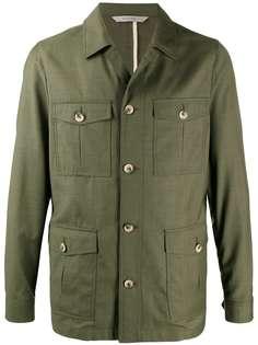 Canali однобортная куртка узкого кроя