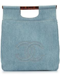 Chanel Pre-Owned джинсовая сумка-тоут 1997-го года с логотипом CC