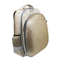 Школьные ранцы, рюкзаки, сумки Рюкзак Silwerhof 830883 золотистый С пайетками