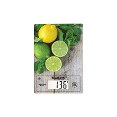 Весы кухонные SCARLETT SC-KS57P21, рисунок/лимон/зелень