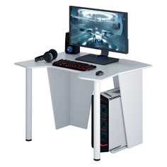 Стол игровой МАСТЕР Страйкер-10, ЛДСП, белый Master