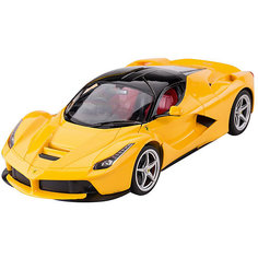 """Радиоуправляемая машина Rastar """"Ferrari LaFerrari"""" 1:14, жёлтая"""