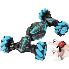 """Машина перевертыш """"Hyper Stunt Car"""" управляемая жестами цвет_blue"""
