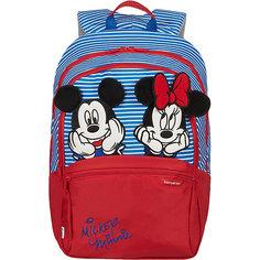 Рюкзак Samsonite by Disney Микки и Минни в полоску, размер М