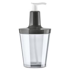Диспенсер для мыла flow 250 мл (koziol) серый 8x17x8 см.