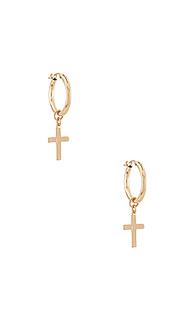 Серьги-кольца luxe - Joy Dravecky Jewelry