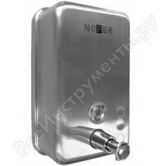 Диспенсер для мыла nofer inox матовый прямоугольный с пластиком внутри 1200 мл 03041.s