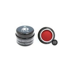 TNL, 4D-гель для дизайна ногтей №3, красный