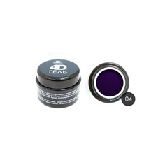 TNL, 4D-гель для дизайна ногтей №4, темно-синий